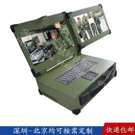 15寸双屏工业便携机便携式机箱定制军工电脑笔记本铝