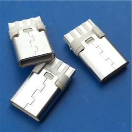 焊线3.1公头USB C TYPE简易8P焊线式 白胶充电