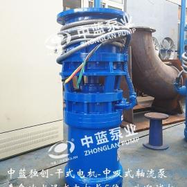 无泵房临时排水用中吸式潜水轴流泵