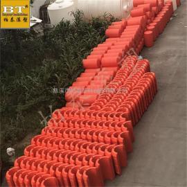 滚塑定制浮筒 内河垃圾拦截浮排(安装图)