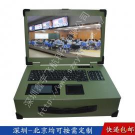 17寸工业便携机机箱定制工控便携式军工电脑外壳加固笔记本铝
