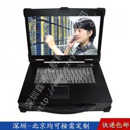 15寸工业便携机机加工机箱定制视频采集军工电脑笔记本一体机