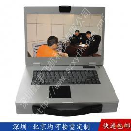 15寸工业便携机工控一体机定制便携式机箱军工电脑加固笔记本