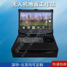 15寸3U带摇杆工业便携机机箱定制加固笔记本外壳军工电脑
