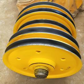 50t起重机滑轮组 四轮滑轮组图片吊车滑轮组材料铸钢轧制