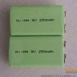 厂家供应9v250mAh镍氢电池 仪器仪表电池