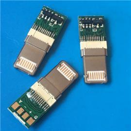 苹果+安卓 盲插/二合一公头带板MICRO正反插+苹果双面