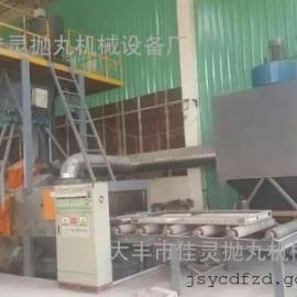 安徽铝合金模板表面清理抛丸机,安徽铝模板喷丸打砂机