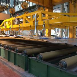 汉尔得5吨钢板搬运吸盘吊具、校平机板材起吊吸盘
