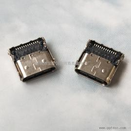TYPE-C母座24P(P针前插后贴)/12P插12P贴