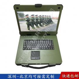 15寸工业便携机机箱定制工控军工电脑加固笔记本外壳铝