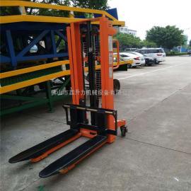 电动堆高车手动液压车堆高车升高车升降叉车3吨2吨搬运装卸车