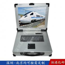 17寸2U工业便携机机箱军工电脑定制加固笔记本外壳一体机铝