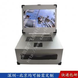 17寸4U军工电脑加固笔记本定制工业便携机机箱外壳一体机铝