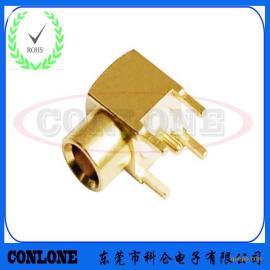 90度焊板弯式MCX射频天线座 MCX射频连接器