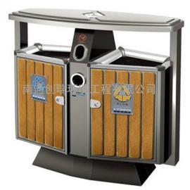 海东分类果皮箱-海东钢木户外果皮箱-海东钢木果皮箱