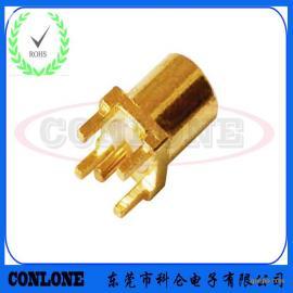 PCB板端直插式安装MCX-KE射频插座 直插式MCX母座