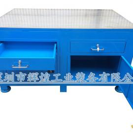 重型钢板工作台钳工维修台虎钳抛光台定做飞模台修模桌