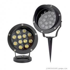 LED射树灯草坪灯户外防水投光灯墙角射灯大功率投射灯厂家