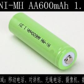 厂家供应镍氢AA600mAh 1.2V充电电池
