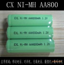 厂家供应镍氢AA800mAh 1.2V充电电池