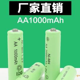 直销数码产品电池 1.2V AA1000mAh 镍氢电池