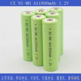 厂家供应镍氢AA1800mAh 1.2V圆柱电池