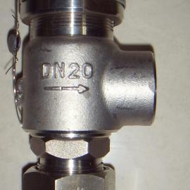 A21W-16P-DN20不锈钢弹簧微启式外螺纹安全阀