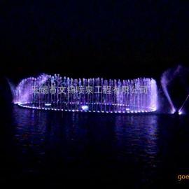 人工湖程控喷泉 湖面音乐喷泉 变色组合变化音乐喷泉