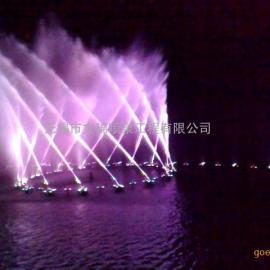 湖面音乐喷泉 水面程控喷泉 数码万向喷泉