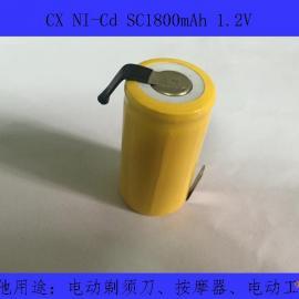 厂家供应NI-Cd SC1800mAh镍镉电池