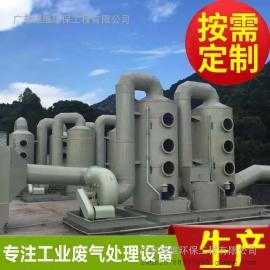 惠州环保工程酸碱废气处理玻璃钢酸雾净化塔工作原理介绍