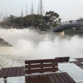 公园冷雾景观 公园水景