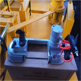 矿井专用切割轨道钢气动锯