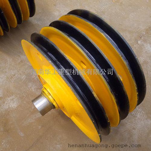 单轮固定加厚钢板滑轮 32t吊车滑轮 葫芦钩滑轮 销往重庆长沙