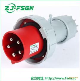 防水工业插头插座335五极63A/125A 配电箱暗装直座