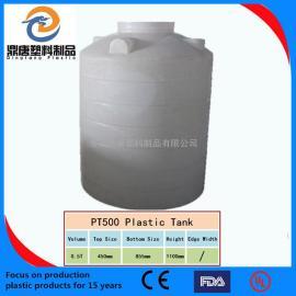 圆柱水箱 食品级塑料水箱厂家地址,500升水塔价格