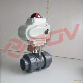 UPVC气动球阀 Q641F塑料球阀