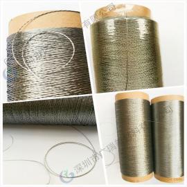 耐高温材料高温金属线,高温金属布,纤维梭织高温316L布料