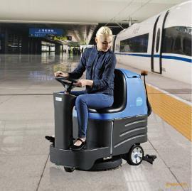 容恩R-XBEN大规模驾驶式洗地机工业空中洁肤机标准电池式洗地