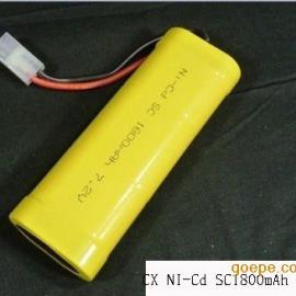 厂家供应NI-Cd SC1800mAh 1.2V镍镉电池