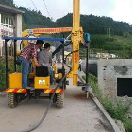 吉林高速公路四缸液压波形护栏打桩机