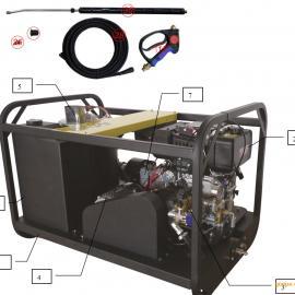 柴油驱动200公斤压力热水高压清洗机MH 20/15 DE冷热水高压清洗机