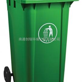 江阴塑料垃圾桶-江阴加厚塑料桶-江阴120升加厚挂车垃圾桶