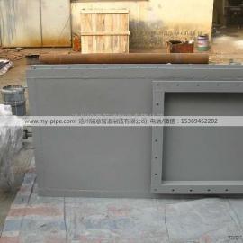 双插板气动热风/翻板式隔绝门 煤粉管道气动插板门 铭意