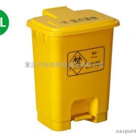 医疗废物黄色塑料垃圾桶价格,感染性废物垃圾桶厂家批发