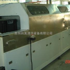 苏州非标定做环保型水溶剂塑胶周转筐链网通过式喷淋清洗机