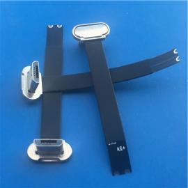安卓/无线充电MICRO 公头2P正头T字型金属头带排线