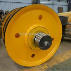 吊�h动滑� 16t轧制轮 小车提升定滑�组 定做卷扬机滑�