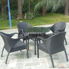 户外滕艺家具 庭院桌椅组合 花园休闲木制桌椅 【产品材质】